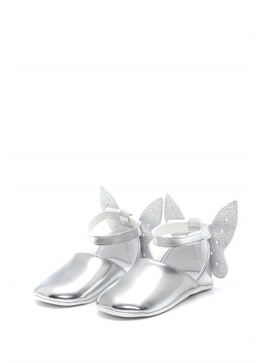 First Step Kelebek Bebek Babet--G-2286 Gümüş